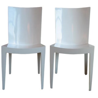 "Pair of Karl Springer ""JMF"" Chairs"