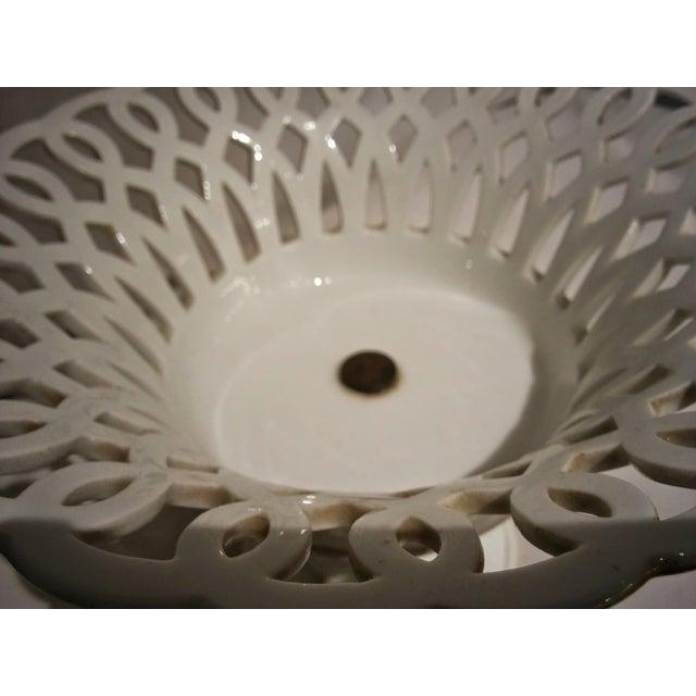 Antique Parisian White Porcelain Fruit Basket - Image 8 of 9