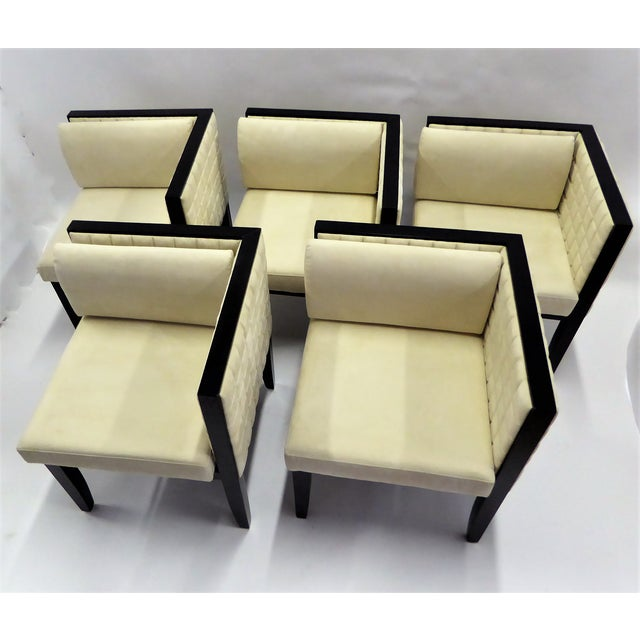 1990s Pietro Costantini Quilted Ultrasuede Yale Armchairs - a Pair For Sale - Image 10 of 12