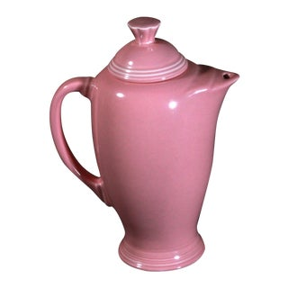 Vintage Fiestaware Coffee Serving Pot in Rose Pink For Sale