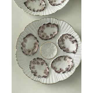 Vintage Gray and White Oyster Plates - Set of 4 Preview
