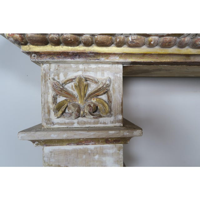 19th Century Italian Painted and Parcel Gilt Fireplace Mantel For Sale - Image 12 of 13