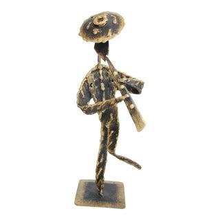 1970s Vintage Israeli Metal Man Sculpture For Sale