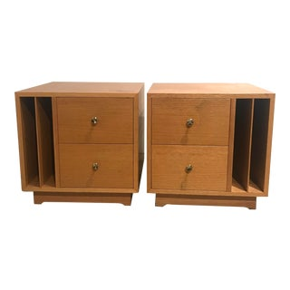 Bench Made Mid-Century Cube Side Tables - a Pair For Sale