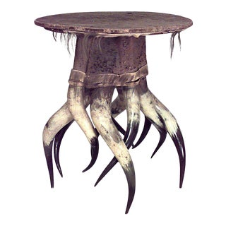 Rustic Continental Horn Base Table For Sale