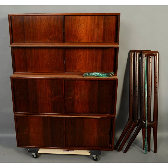 Kurt Ostervig Rosewood Wall Unit Bookcase For Sale In Washington DC - Image 6 of 7
