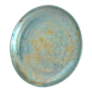 Vintage Turquoise Beatrice Wood Plate For Sale