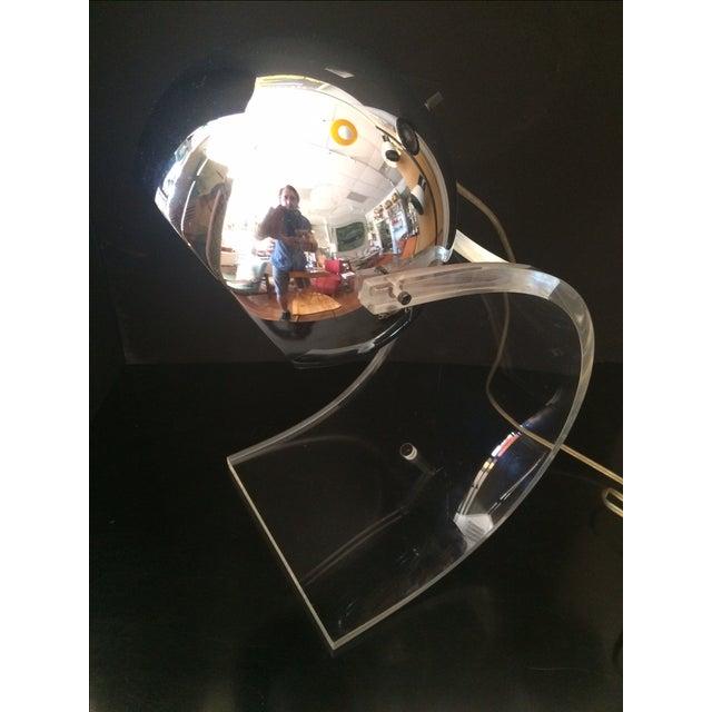 Mid-Century Modern Chrome Eyeball & Lucite Lamp by Robert Sonneman For Sale - Image 3 of 7