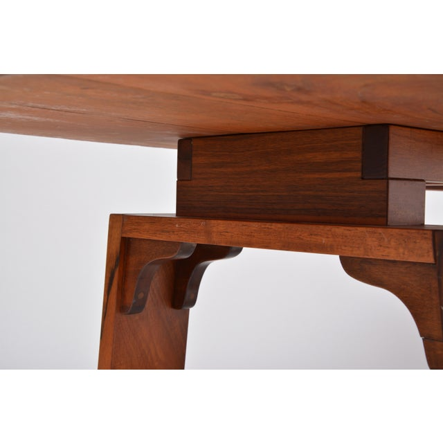 Mid-Century Modern Large Dining Table in Walnut Veneer by Silvio Coppola, Bernini, Italy, 1964 For Sale - Image 3 of 12