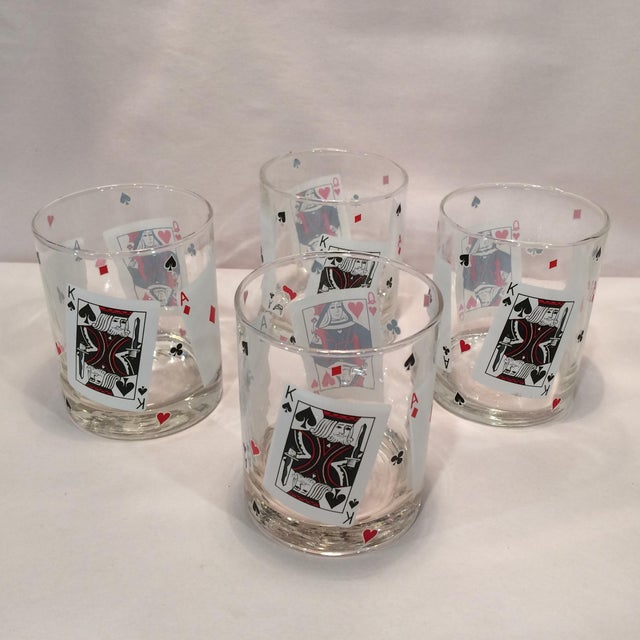 Poker Playing Card Lowball Glasses- Set of 4 - Image 2 of 11