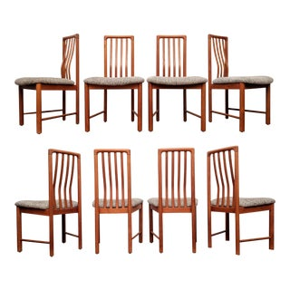 Danish Modern Benny Linden Teak Chairs, Set of 8 For Sale