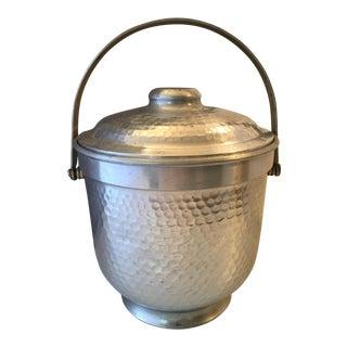 Italian Hammered Metal Ice Bucket