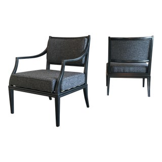 Edward Wormley for Dunbar Armchairs - a Pair For Sale