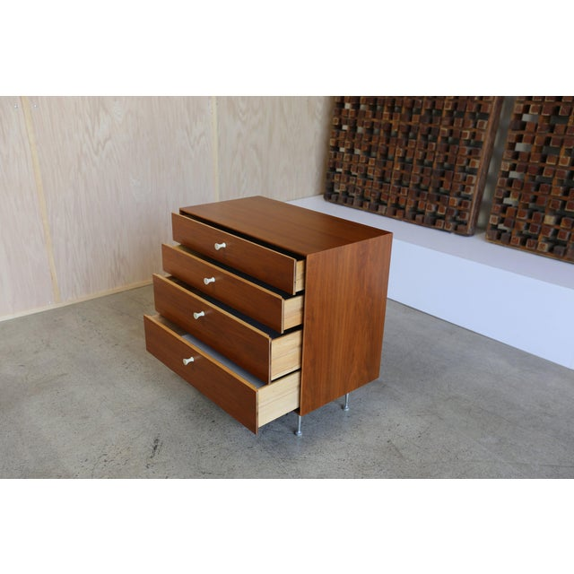 Teak Mid-Century Modern George Nelson for Herman Miller Teak Thin Edge Chest of Drawers For Sale - Image 7 of 12