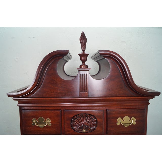 Henkel Harris Solid Mahogany Queen Anne Highboy Chest - Image 7 of 10
