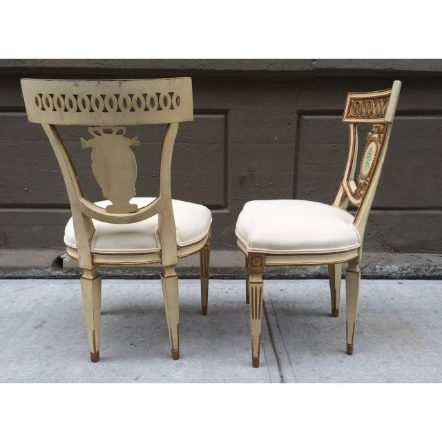 Pair of 19th Century Italian Neoclassical Side Chairs For Sale - Image 4 of 9