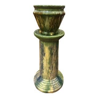 American Art Deco Pottery Vase Pedestal For Sale