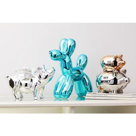 "2010s Interior Illusions Plus Blue Balloon Dog Bank - 12"" Tall For Sale - Image 5 of 6"