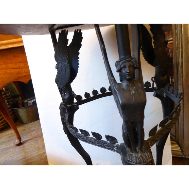 Early 20th Century Italian Empire Style Bronze Gueridon For Sale - Image 9 of 10