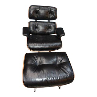 1950s Vintage Version 1 Eames Lounge Chair & Ottoman For Sale