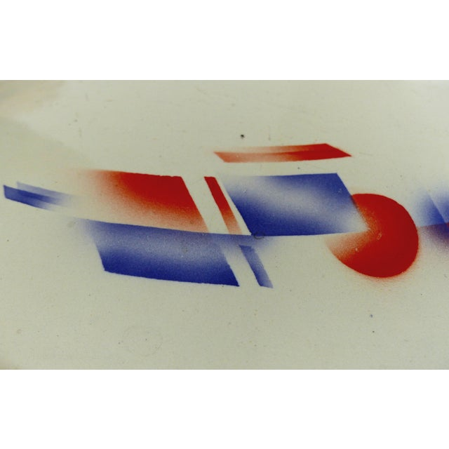 Art Deco German Enameled Metal Bread Box For Sale - Image 4 of 11