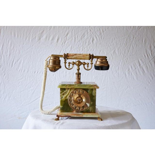 20th Century vintage Italian desk telephone designed by TELART ViaReggio in the style of Art Deco. The telephone is made...