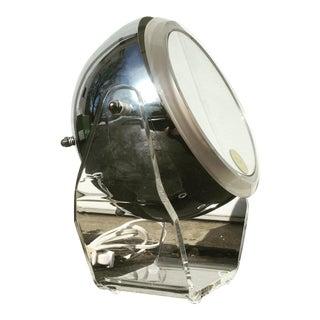 Chrome Eyeball & Lucite Illuminated Vanity Mirror
