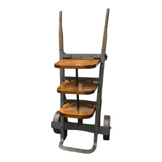Repurposed Industrial Hand Truck Shelf For Sale