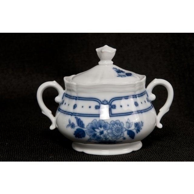 Italian Blue & White Tea Service - Image 5 of 6