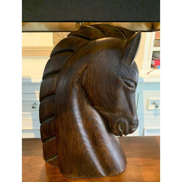 Mid 20th Century Mid 20th Century William Billy Haines Horse Head Lamps - a Pair For Sale - Image 5 of 13