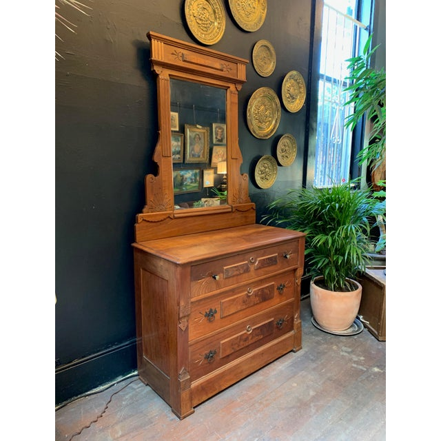 Americana Vintage East Lake Dresser With Mirror For Sale - Image 3 of 7