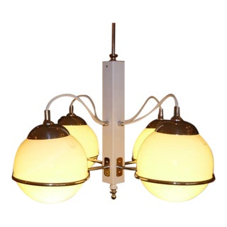 Smart Gino Sarfatti Four Globe Chandelier for Arteluce, Italy For Sale