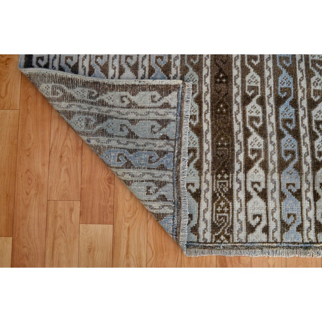 Turkish Hand-Knotted Oushak Runner Rug - 3' X 7' - Image 9 of 9