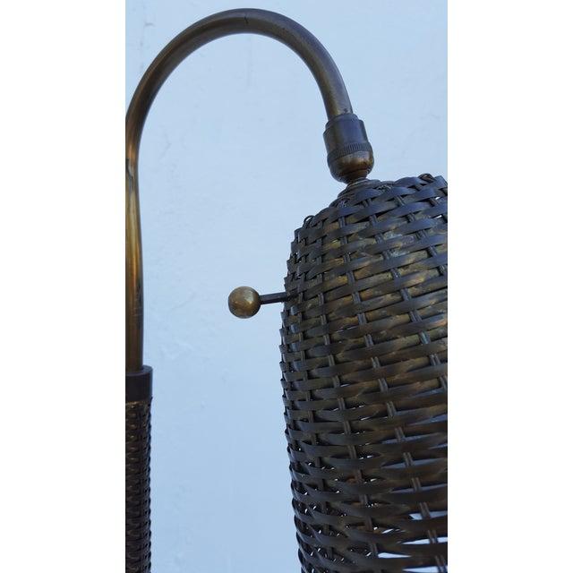 1976 Chapman Woven Brass Floor Lamp. - Image 5 of 7