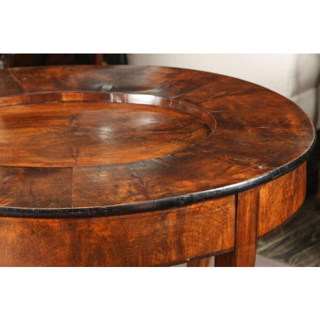 Early 19th Century Early 20th Century Georgian Burl Wood Tray Top Coffee Table For Sale - Image 5 of 9