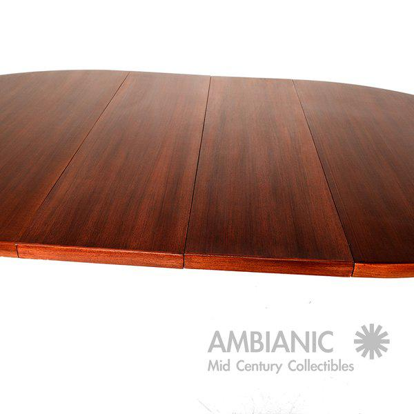 Scandinavian Modern Swedish Oval Dining Table For Sale - Image 4 of 9