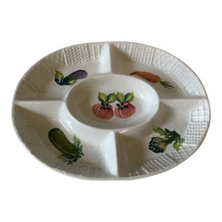 Vintage Italian Serving Dish for Veggies and Dip For Sale