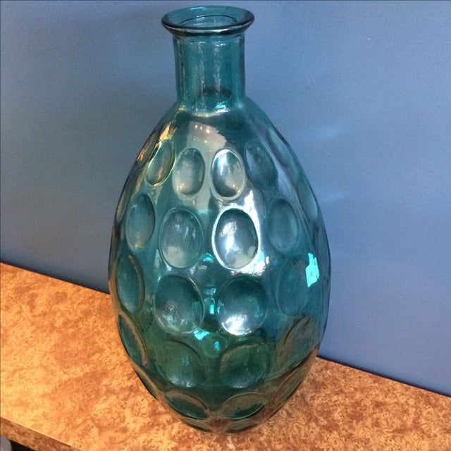Large Turquoise Glass Vessel - Image 3 of 6