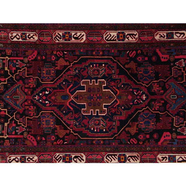 Vintage Persian rug featuring a beautiful intricate medallion design. 100% handmade, wool pile. Excellent condition, ready...