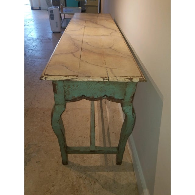 1990s 1990s French Country Nierman Weeks Console For Sale - Image 5 of 7