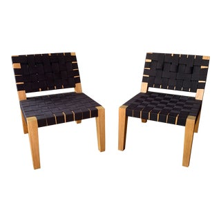 Contemporary Modern Chairs in the Style of Jens Risom - a Pair For Sale