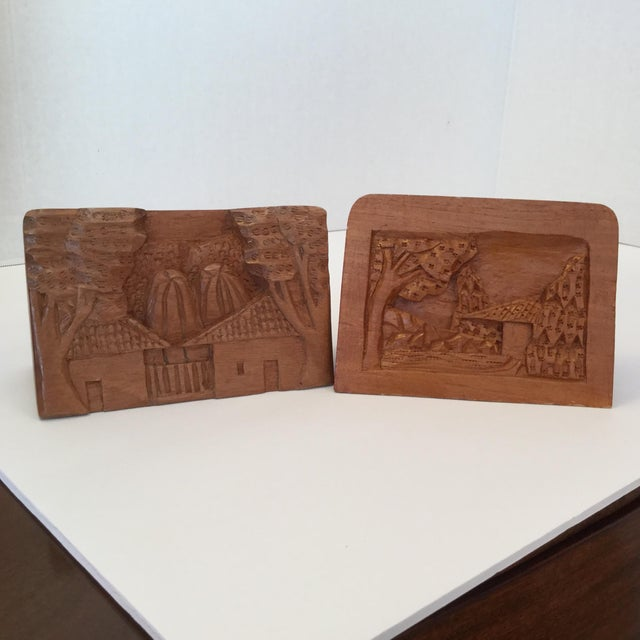 Hand Carved Wood Carvings - A Pair For Sale - Image 10 of 11