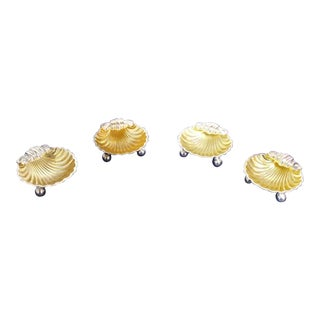 """Regis"" Silverplate Shell Forms Salt Cellars - Set of 4 For Sale"