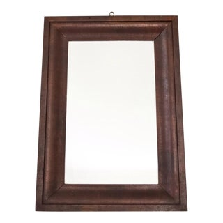 Simple Antique Wood Hanging Wall Mirror