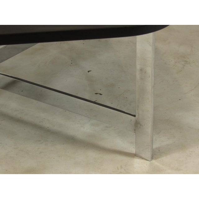 Mid-Century Modern French Mid-Century Slate & Chrome Coffee Table For Sale - Image 3 of 9