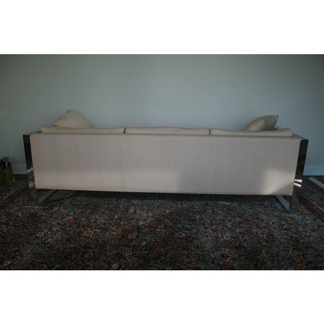 Milo Baughman Chrome Sofa and Loveseat - Image 5 of 11