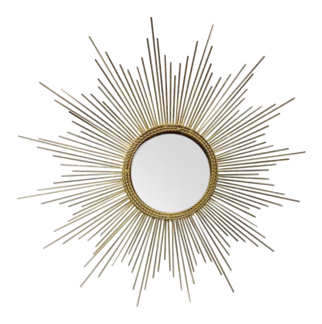 Art Deco Style Gold Starburst Mirror - Image 1 of 7