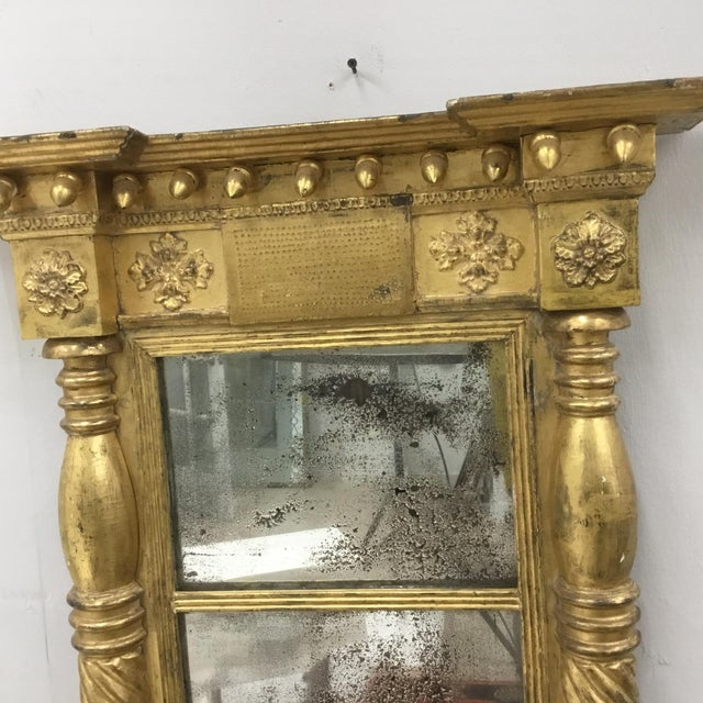 Perfect period antique from local Connecticut estate. Original gold, mirror plates and back. Crest decorated with gilt...
