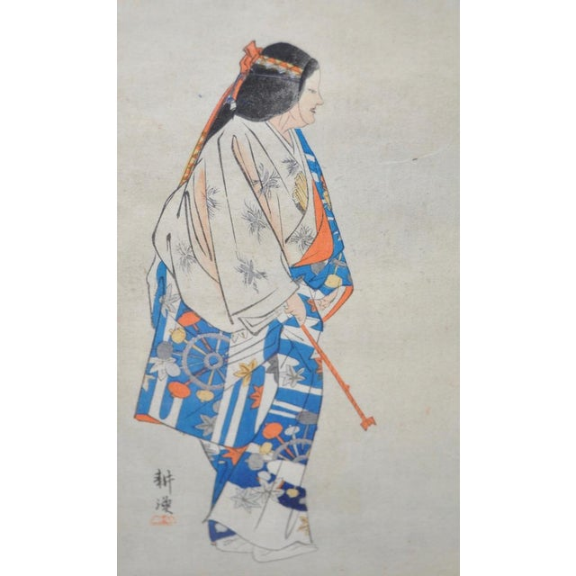 Asian 19th Century Japanese Woodblock Prints of Sporting Scenes - a Pair For Sale - Image 3 of 13