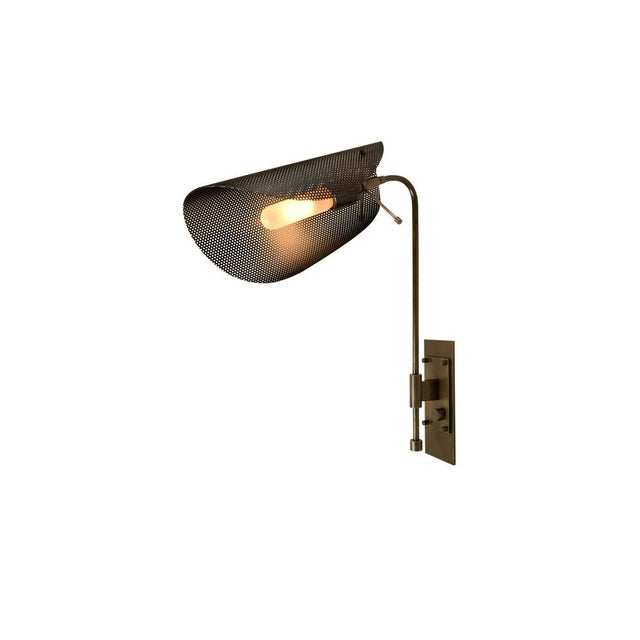 Blueprint Lighting Tulle Wall Lamp in Bronze and Black Enamel Mesh by Blueprint Lighting, 2019 For Sale - Image 4 of 6